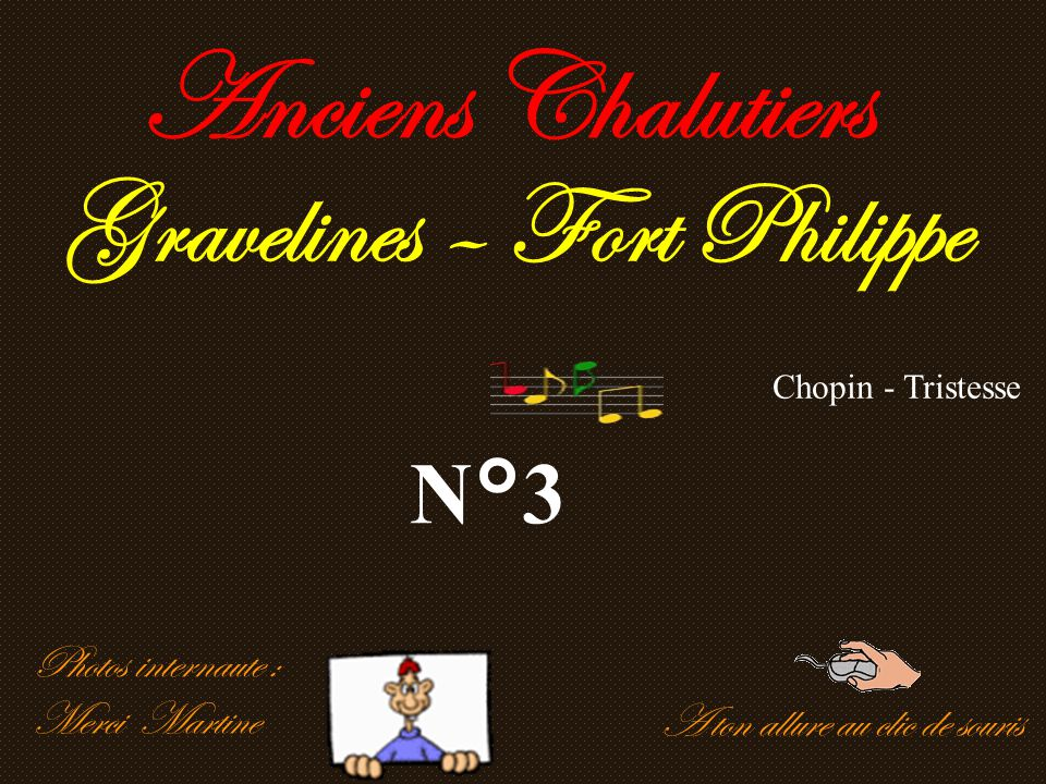 Anciens Chalutiers Gravelines – Fort Philippe N°3 Photos internaute :