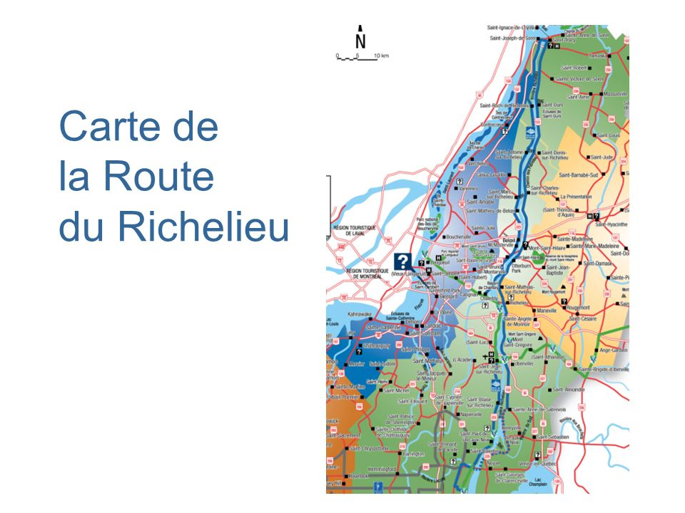 Carte de la Route du Richelieu