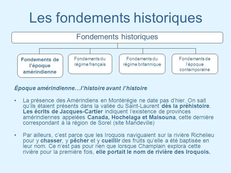 Les fondements historiques