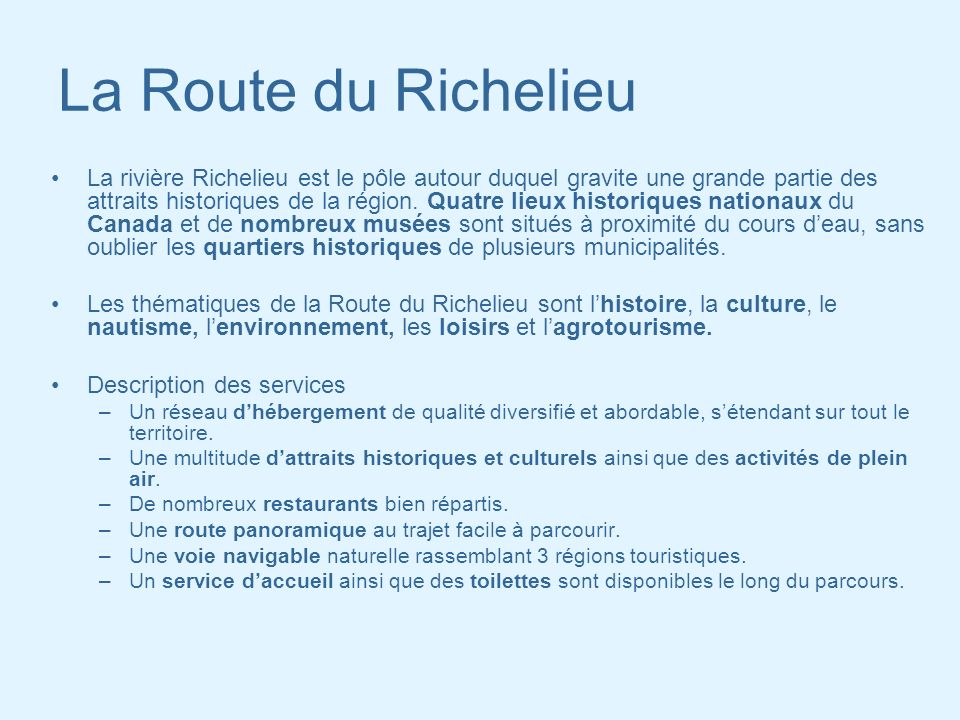 La Route du Richelieu