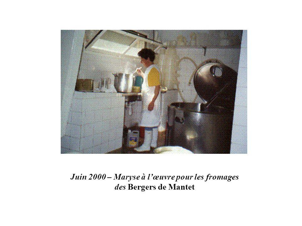 Juin 2000 – Maryse à l'œuvre pour les fromages des Bergers de Mantet
