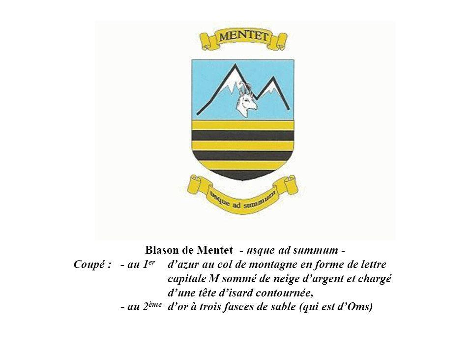 Blason de Mentet - usque ad summum -