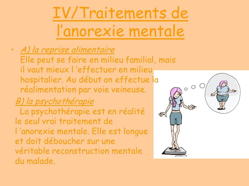IV/Traitements de l'anorexie mentale
