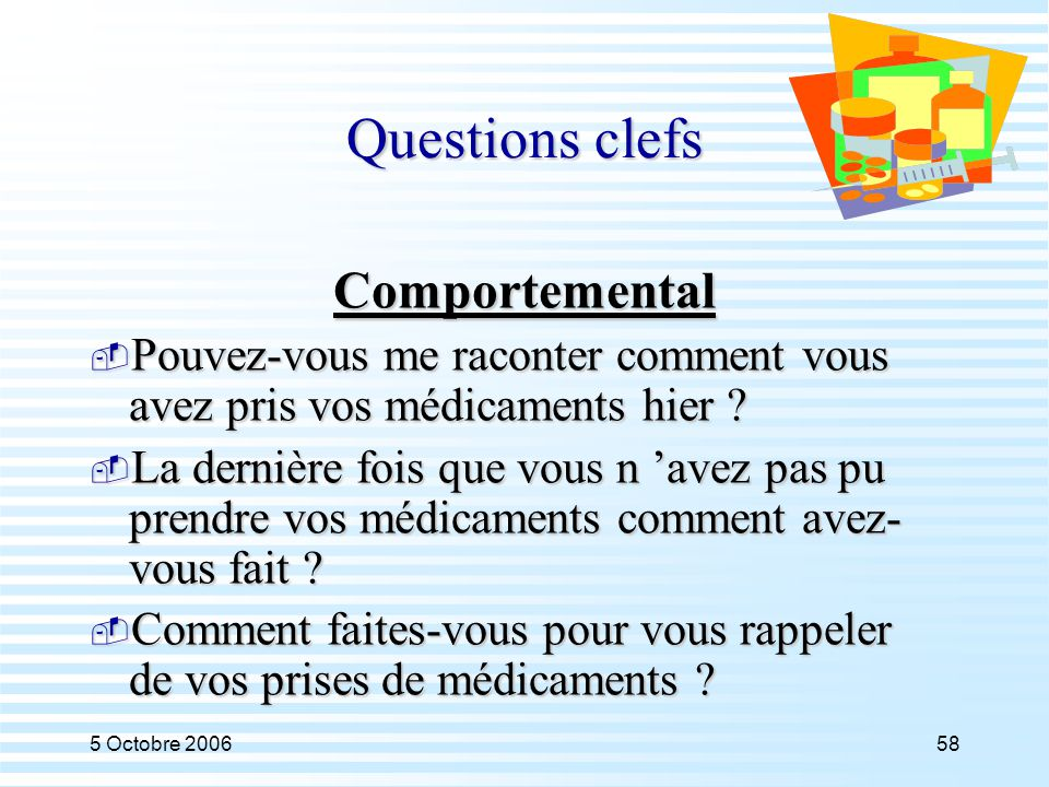 Questions clefs Comportemental