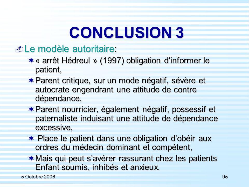 CONCLUSION 3 Le modèle autoritaire: