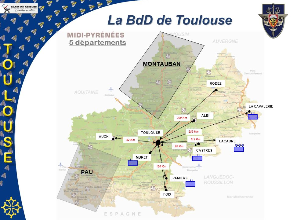 La BdD de Toulouse 5 départements MONTAUBAN PAU