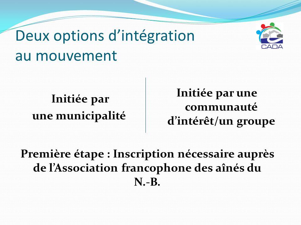 Deux options d'intégration au mouvement