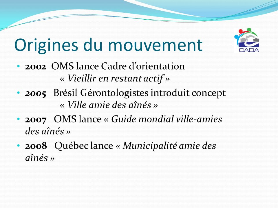 Origines du mouvement