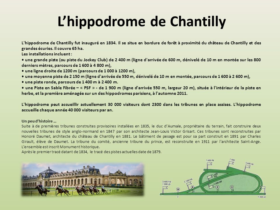 L'hippodrome de Chantilly