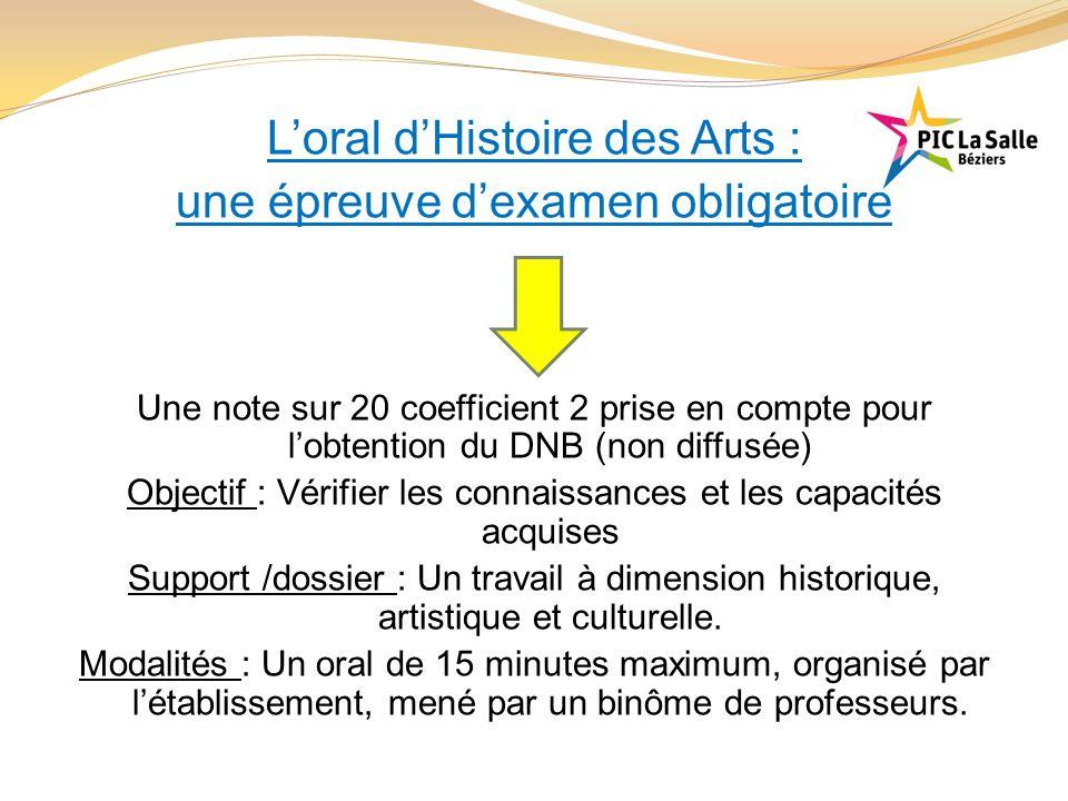 L'oral d'Histoire des Arts : une épreuve d'examen obligatoire