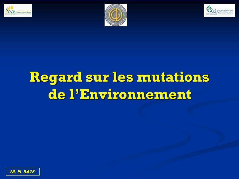 Regard sur les mutations de l'Environnement