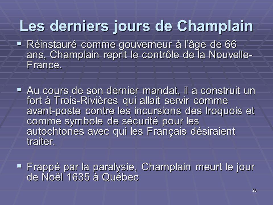 Les derniers jours de Champlain
