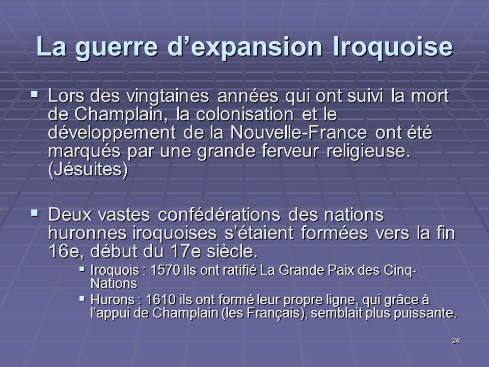 La guerre d'expansion Iroquoise