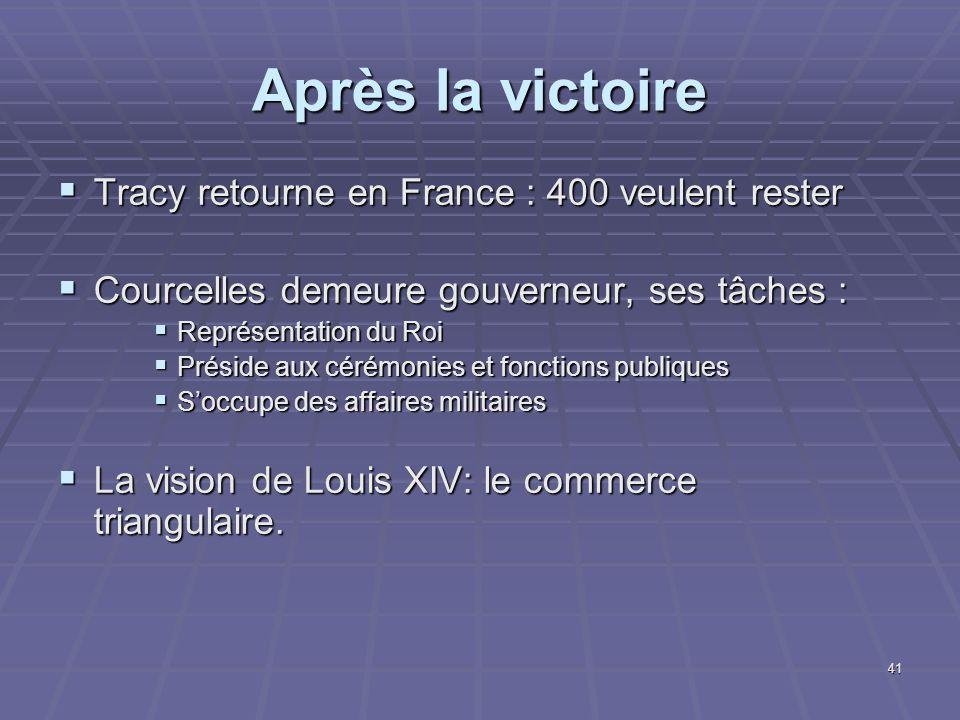 Après la victoire Tracy retourne en France : 400 veulent rester