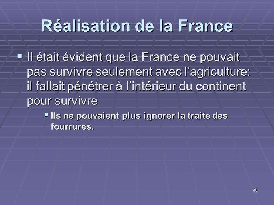 Réalisation de la France