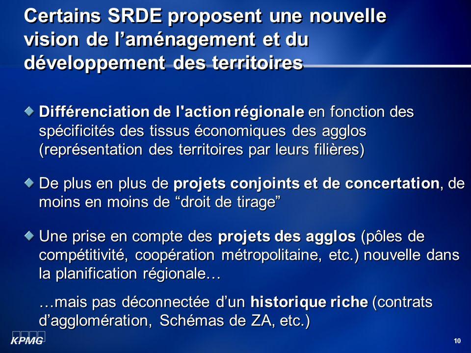 Certains SRDE proposent une nouvelle vision de l'aménagement et du développement des territoires