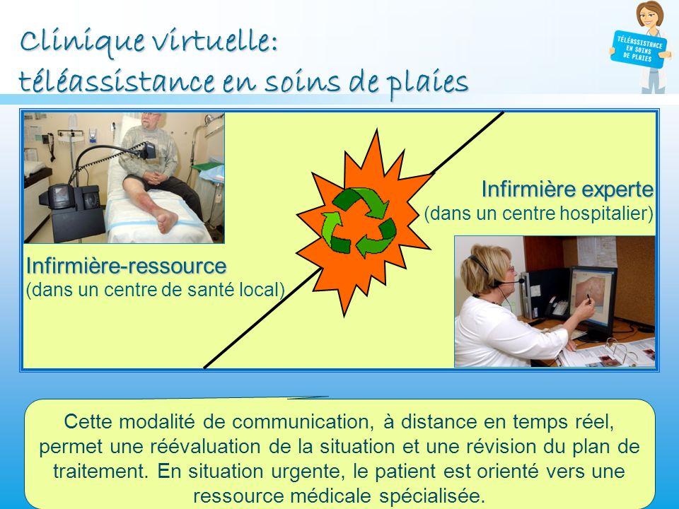 Clinique virtuelle: téléassistance en soins de plaies