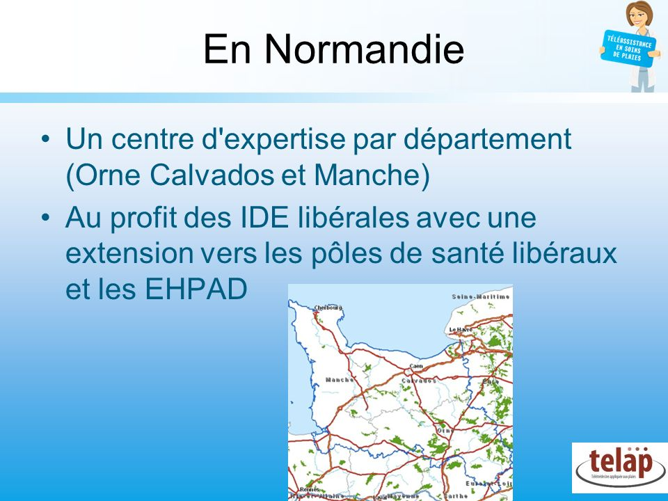 En Normandie Un centre d expertise par département (Orne Calvados et Manche)