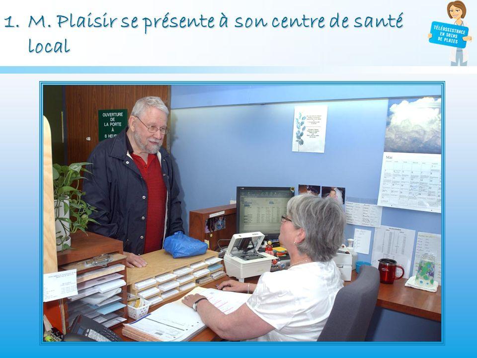 M. Plaisir se présente à son centre de santé local