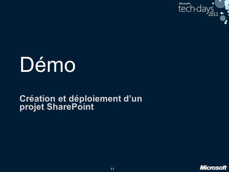 Création et déploiement d'un projet SharePoint