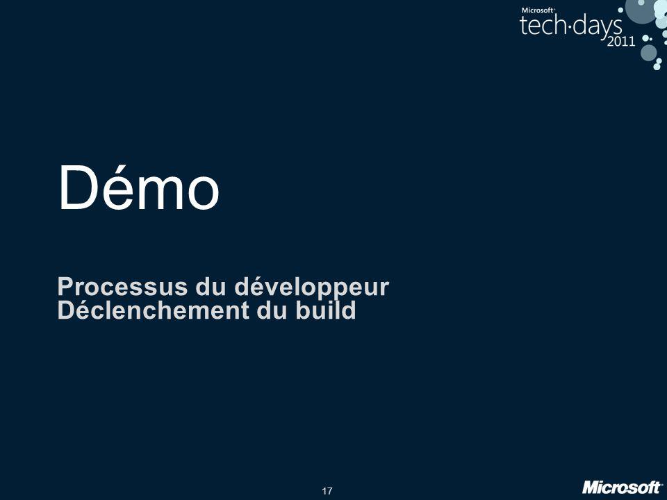 Processus du développeur Déclenchement du build