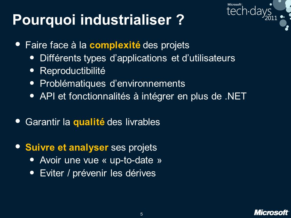 Pourquoi industrialiser