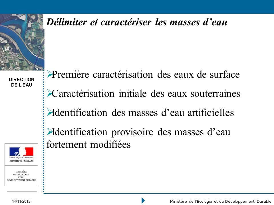 Délimiter et caractériser les masses d'eau