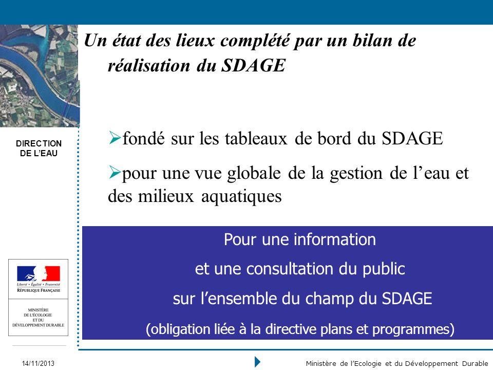 Un état des lieux complété par un bilan de réalisation du SDAGE