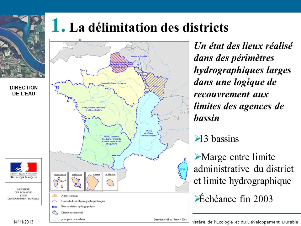 La délimitation des districts