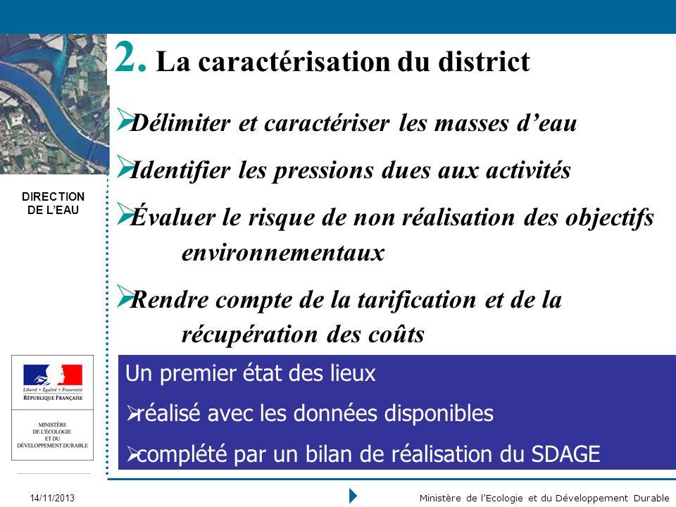 La caractérisation du district