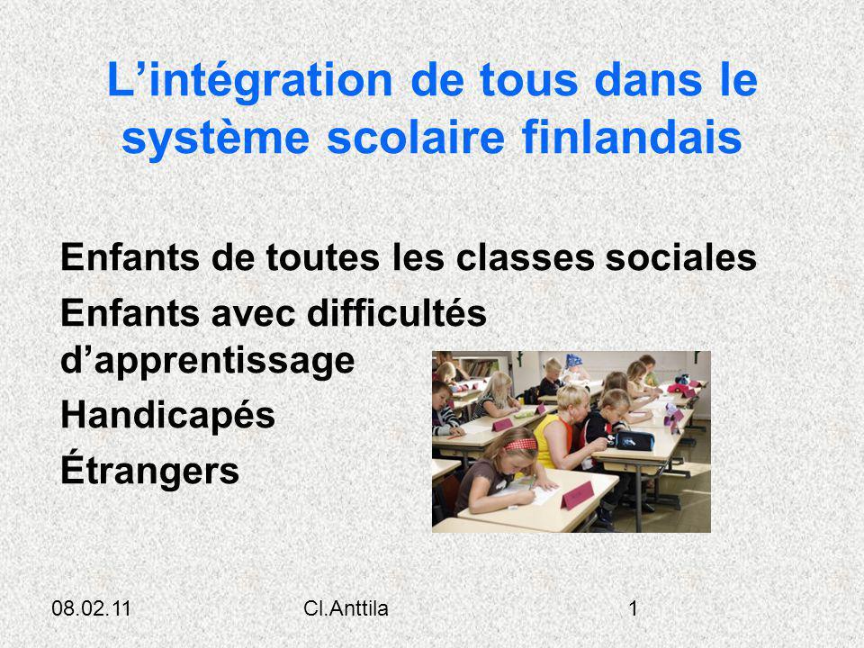 L'intégration de tous dans le système scolaire finlandais