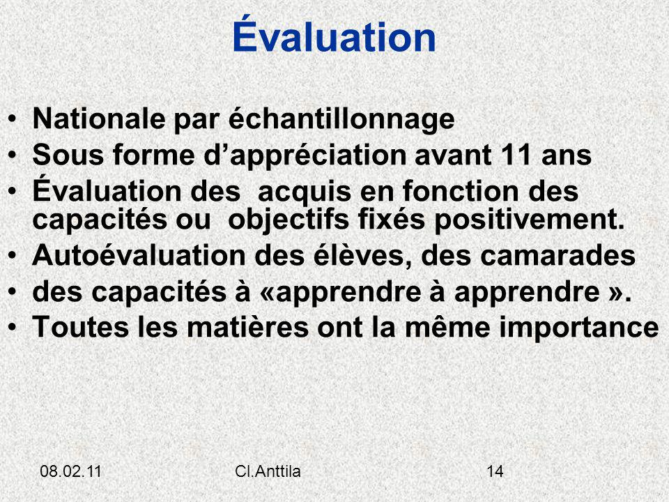 Évaluation Nationale par échantillonnage