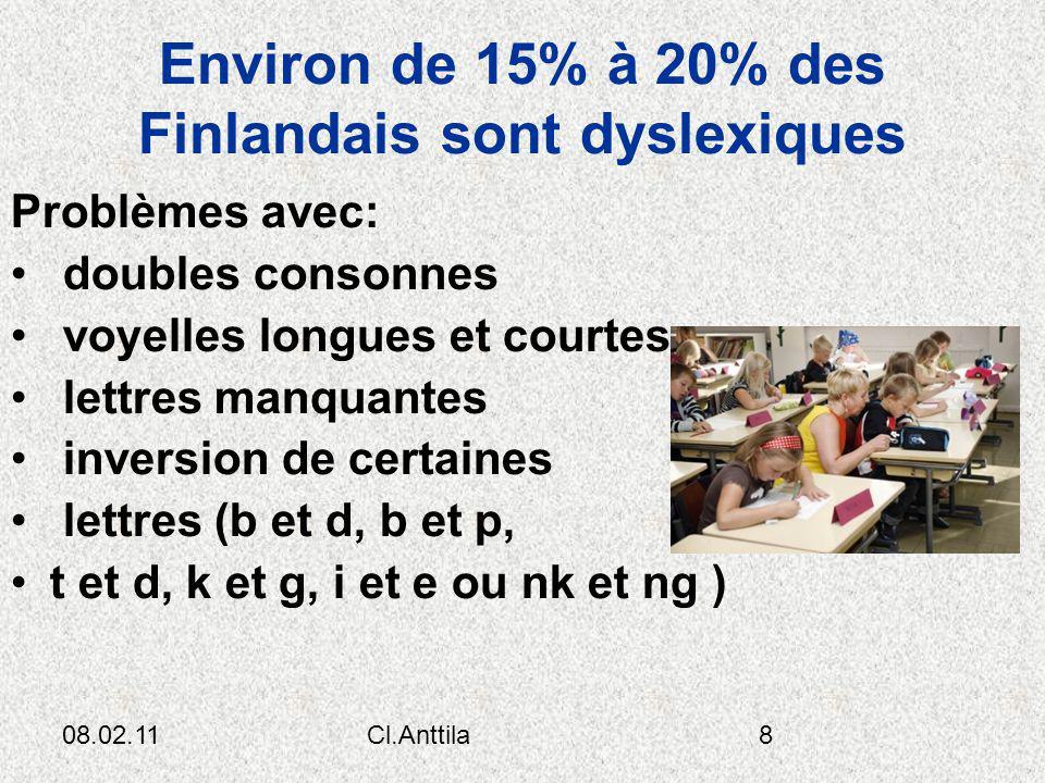 Environ de 15% à 20% des Finlandais sont dyslexiques