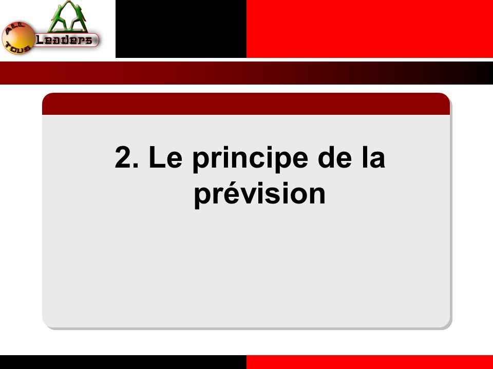 2. Le principe de la prévision