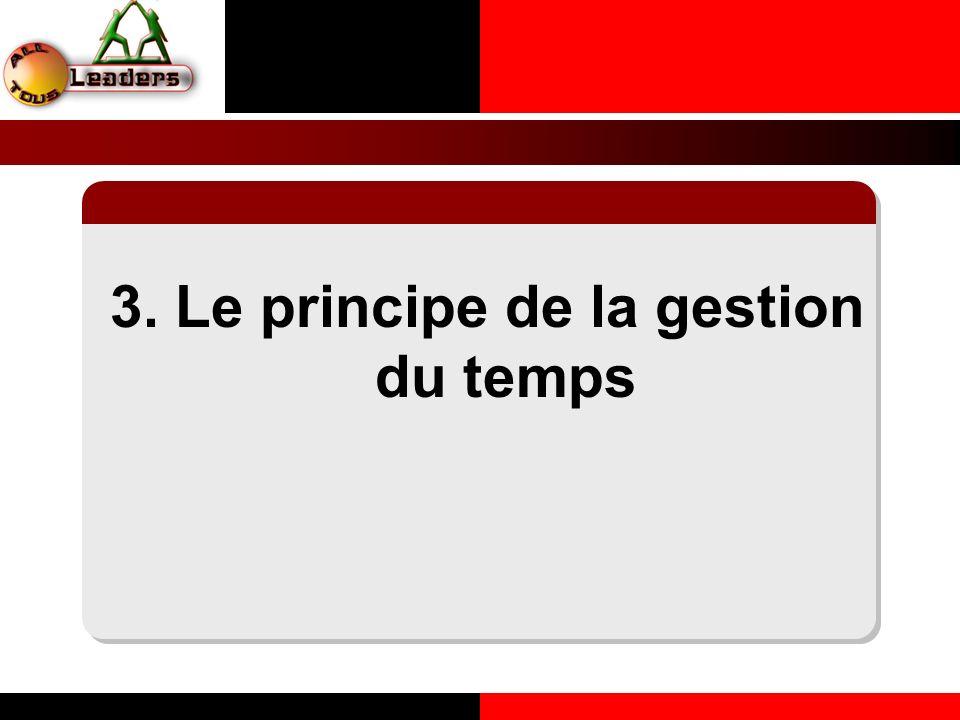 3. Le principe de la gestion du temps