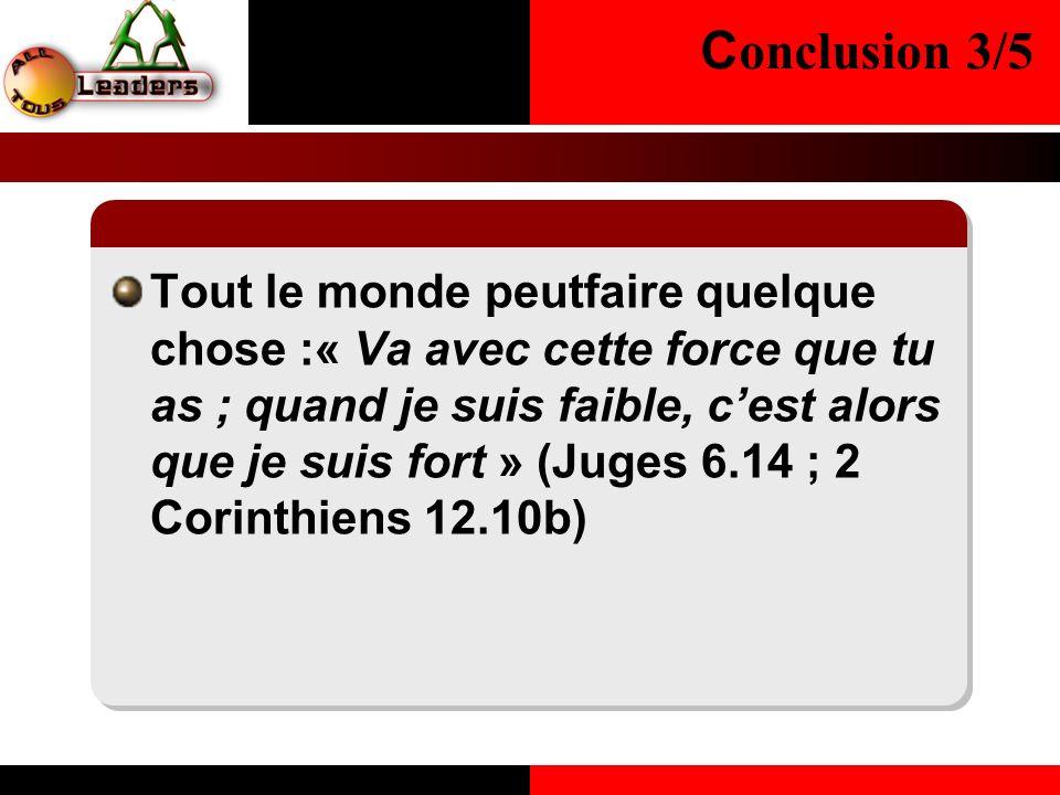 Conclusion 3/5