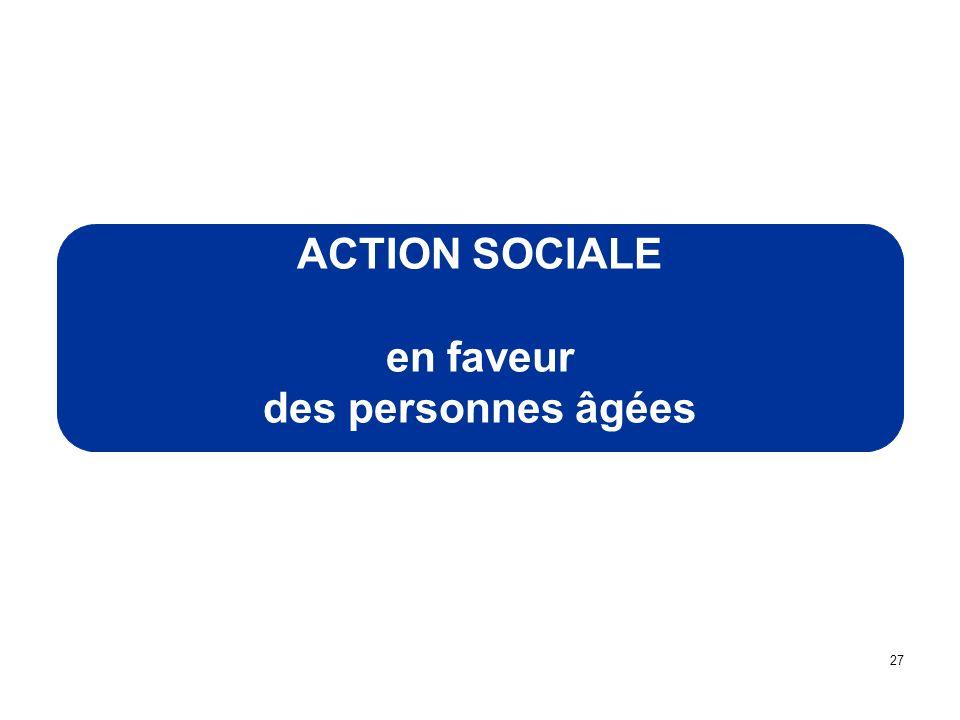 ACTION SOCIALE en faveur des personnes âgées