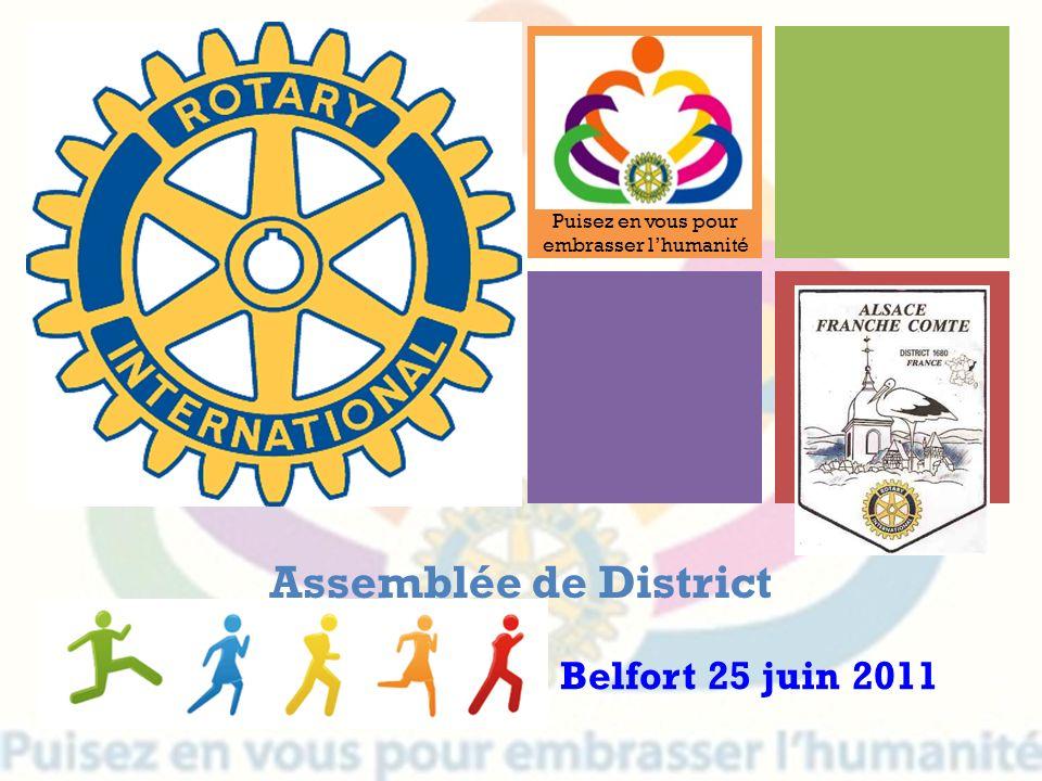 Assemblée de District Belfort 25 juin 2011 Puisez en vous pour