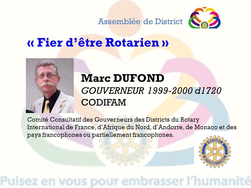 « Fier d'être Rotarien »