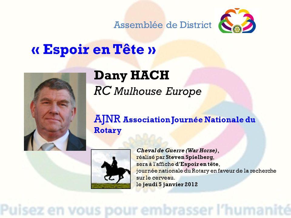 « Espoir en Tête » Dany HACH RC Mulhouse Europe