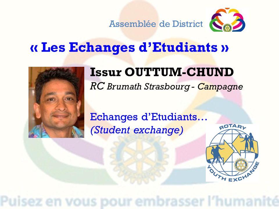 « Les Echanges d'Etudiants »