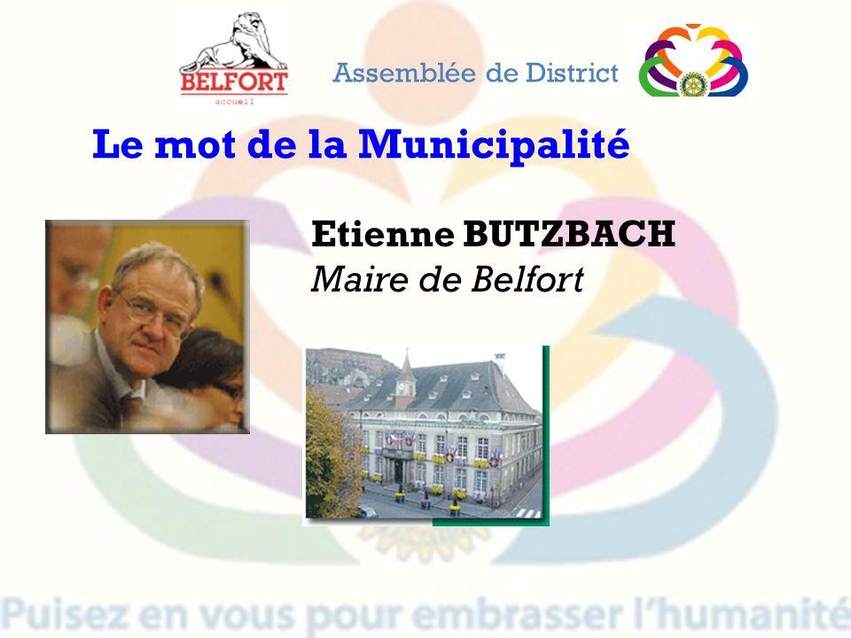 Le mot de la Municipalité