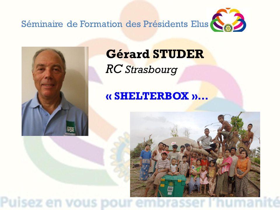 Gérard STUDER RC Strasbourg « SHELTERBOX »…