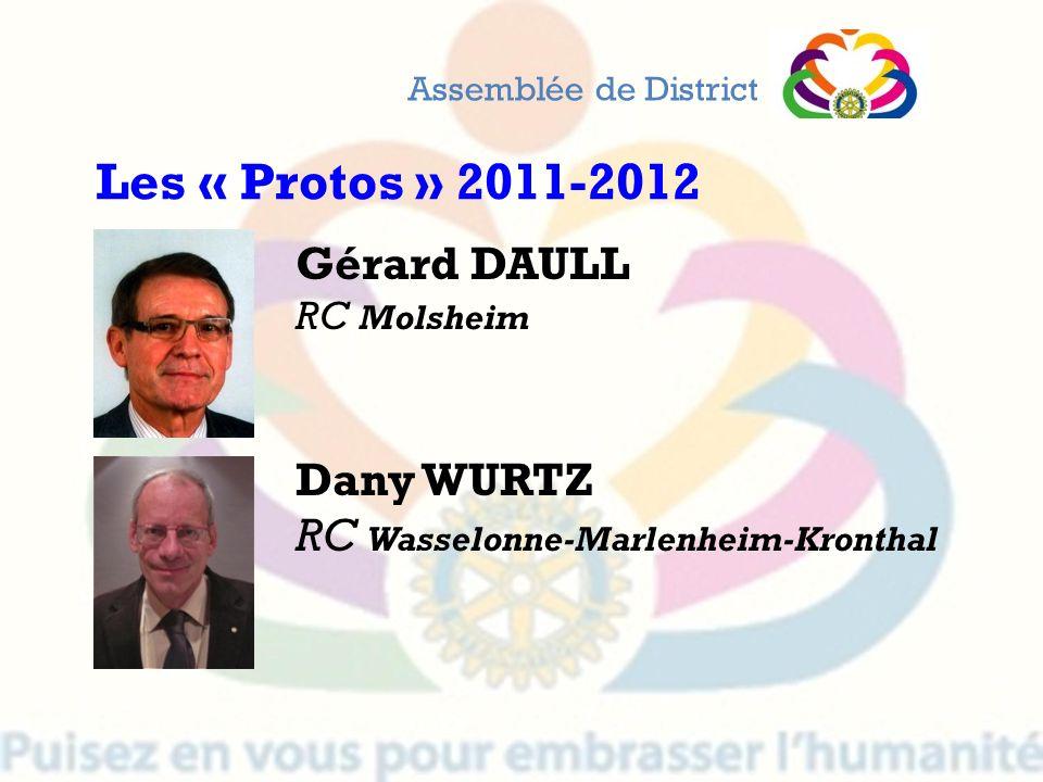 Les « Protos » 2011-2012 Gérard DAULL Dany WURTZ
