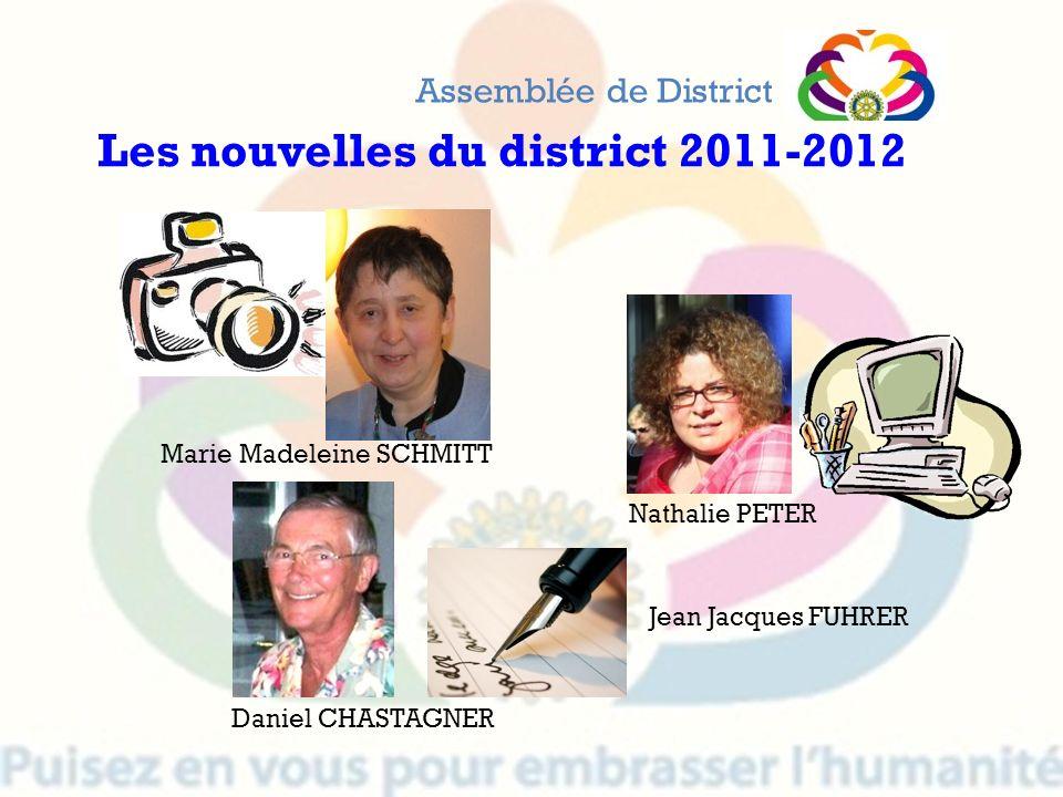 Les nouvelles du district 2011-2012