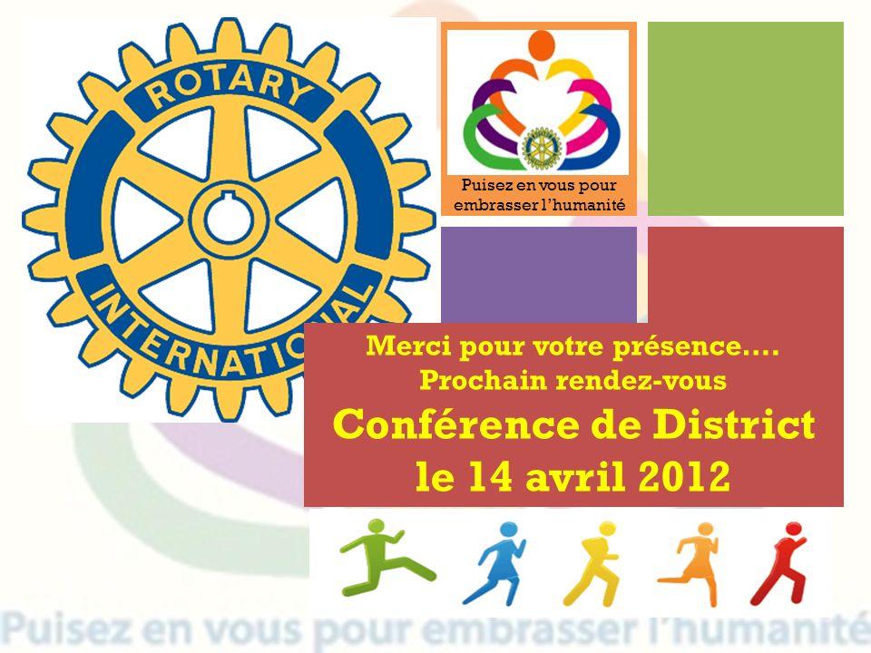 Merci pour votre présence…. Conférence de District