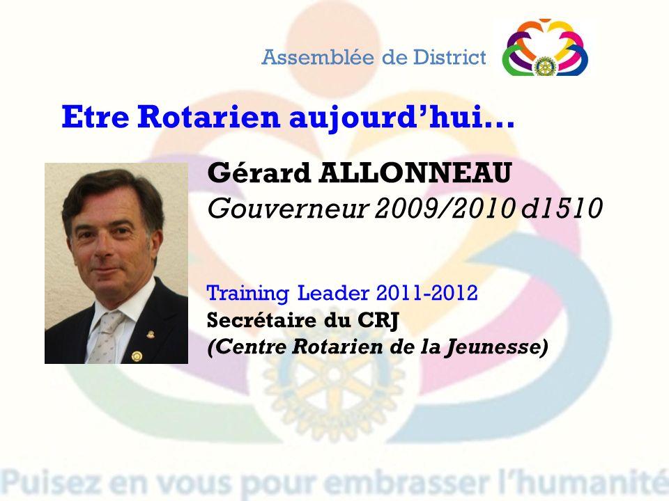 Etre Rotarien aujourd'hui…