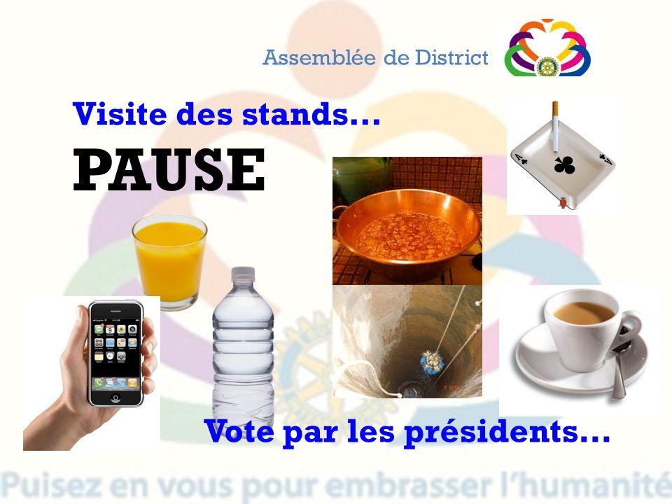 PAUSE Visite des stands… Vote par les présidents…
