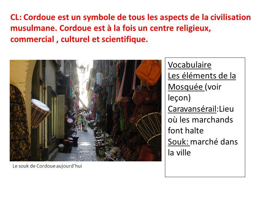 Les éléments de la Mosquée (voir leçon)