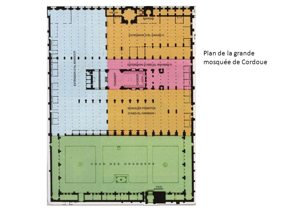 Plan de la grande mosquée de Cordoue